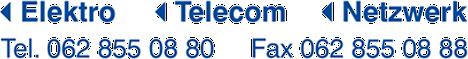 Elektro Telecom Netzwerk, 062 855 08 80